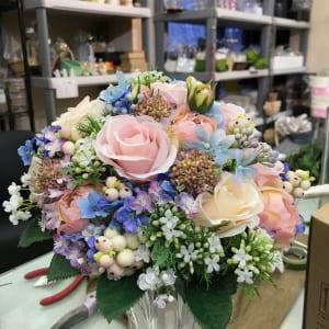 ブライダルブーケ(お花いっぱいのナチュラルブーケ)