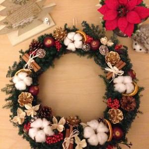 クリスマスリースhappy lpm0028