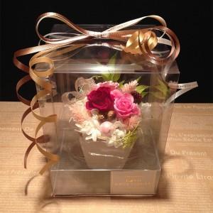 赤いプリザーブドフラワー誕生日/ 記念日/ お祝い/ プレゼント /かわいい プチギフト ストロベリー送料無料 lpm0030