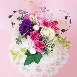 プリザーブドフラワー ガーデンパーティーは、ハートの贈り物/結婚祝い/母の日/記念日/誕生日プレゼント送料無料  lpm0015