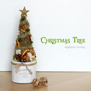 プリザーブドフラワー ホワイトポットのクリスマスツリー lpm0104