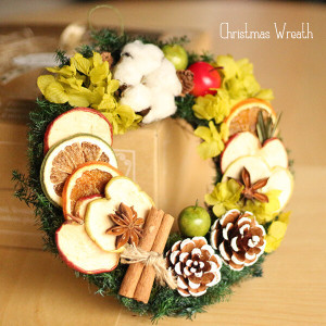 クリスマスリース「フルーティー」 lpm0105
