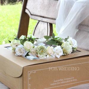 Happy Wedding ふんわりホワイトローズの花冠