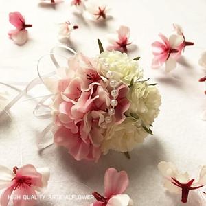 桜とローズのコサージュ