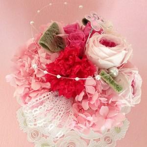 カーネーションとローズのプリザーブドフラワー マミィ結婚祝い/贈り物/記念日/母の日送料無料