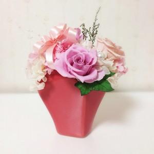プリザーブドフラワー誕生日 結婚祝い 花 ギフト プレゼント ピンクハート lpm0005