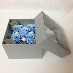 フラワーボックスブルーインテリアとして贈り物/プレゼント/父の日送料無料 lpm0017