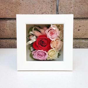 結婚祝い・お祝いにプリザーブドフラワー壁掛けフレーム母の日 プリザーブドフラワー壁掛けフレームの贈り物(M)lpm0032