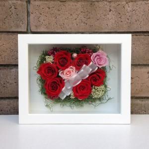 母の日 誕生日 結婚祝い 花 ギフト プレゼント 壁掛け 額 木製 フレーム プリザーブドフラワー(L) lpm0033
